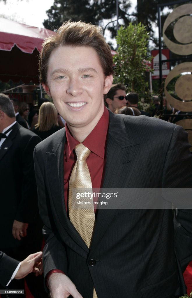<a gi-track='captionPersonalityLinkClicked' href=/galleries/search?phrase=Clay+Aiken&family=editorial&specificpeople=204201 ng-click='$event.stopPropagation()'>Clay Aiken</a> during 57th Annual Primetime Emmy Awards - Red Carpet at The Shrine in Los Angeles, California, United States.
