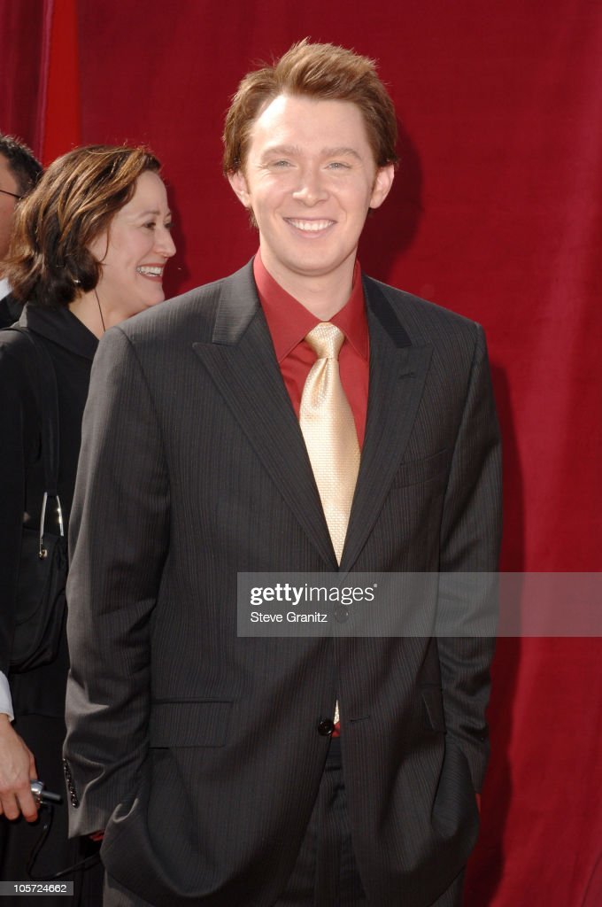 <a gi-track='captionPersonalityLinkClicked' href=/galleries/search?phrase=Clay+Aiken&family=editorial&specificpeople=204201 ng-click='$event.stopPropagation()'>Clay Aiken</a> during The 57th Annual Emmy Awards - Arrivals at Shrine Auditorium in Los Angeles, California, United States.
