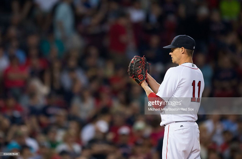 <a gi-track='captionPersonalityLinkClicked' href=/galleries/search?phrase=Clay+Buchholz&family=editorial&specificpeople=4424901 ng-click='$event.stopPropagation()'>Clay Buchholz</a> #11 of the Boston Red Sox pitches against the Colorado Rockies in the fifth inning on May 26, 2016 at Fenway Park in Boston, Massachusetts.