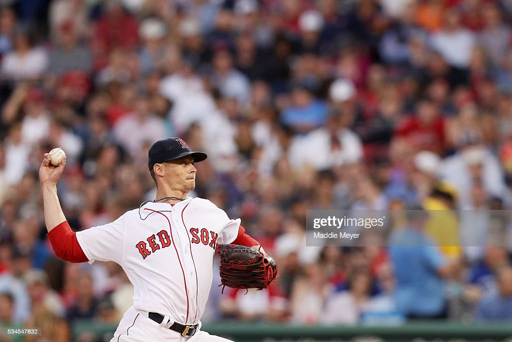 <a gi-track='captionPersonalityLinkClicked' href=/galleries/search?phrase=Clay+Buchholz&family=editorial&specificpeople=4424901 ng-click='$event.stopPropagation()'>Clay Buchholz</a> #11 of the Boston Red Sox pitches against the Colorado Rockies during the fourth inning at Fenway Park on May 26, 2016 in Boston, Massachusetts.