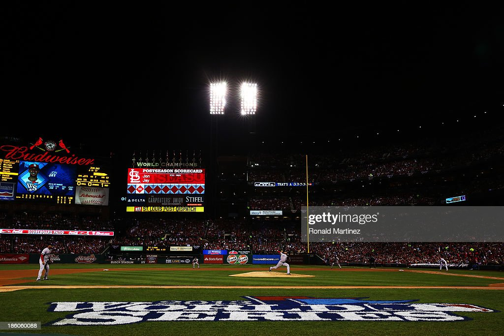 <a gi-track='captionPersonalityLinkClicked' href=/galleries/search?phrase=Clay+Buchholz&family=editorial&specificpeople=4424901 ng-click='$event.stopPropagation()'>Clay Buchholz</a> #11 of the Boston Red Sox throws a pitch against the St. Louis Cardinals during Game Four of the 2013 World Series at Busch Stadium on October 27, 2013 in St Louis, Missouri.