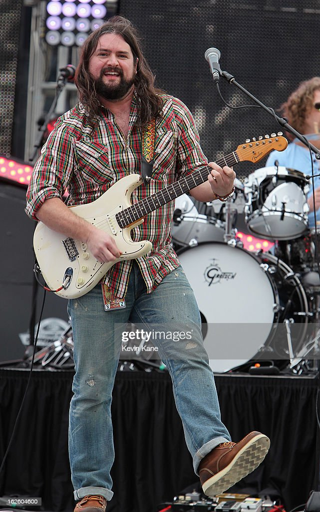 Clay Cook of the Zac Brown Band performs prior to the start of the Daytona 500 at Daytona International Speedway on February 24, 2013 in Daytona Beach, Florida.