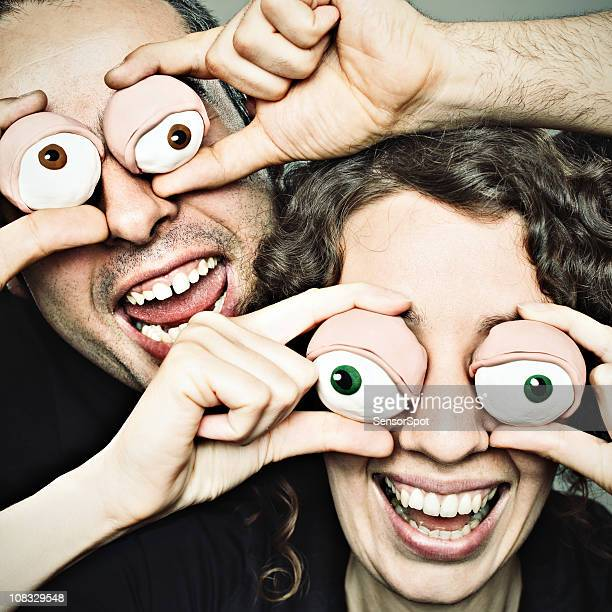 Clay eyes couple