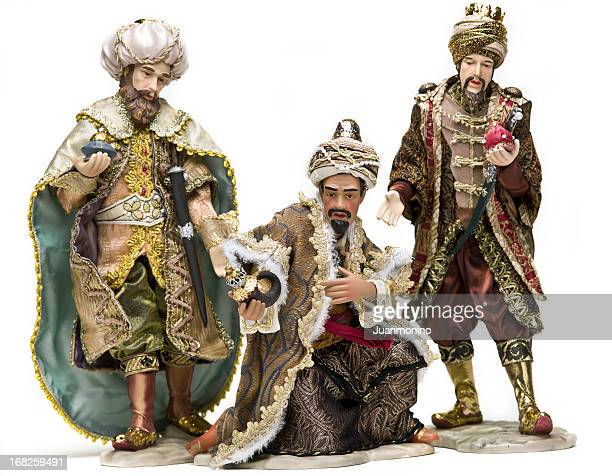 clay figurines depicting the three wise men of epiphany