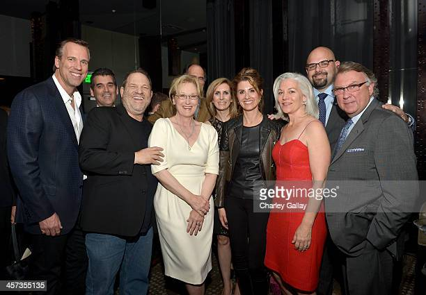 Clay Lacy Aviation CEO Brian Kirkdoffer Bombardier Sales Director Denis Jubinville producer Harvey Weinstein actress Meryl Streep Bombardier Director...