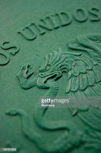 A clay model of the Mexican national symbol is displayed for a photograph at the Mexican Mint also known as Casa de Moneda in San Luis Potosi Mexico...