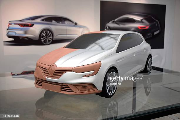 Clay model of the new car