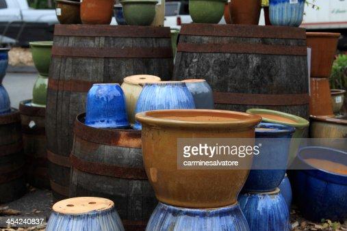 clay pots : Stock Photo