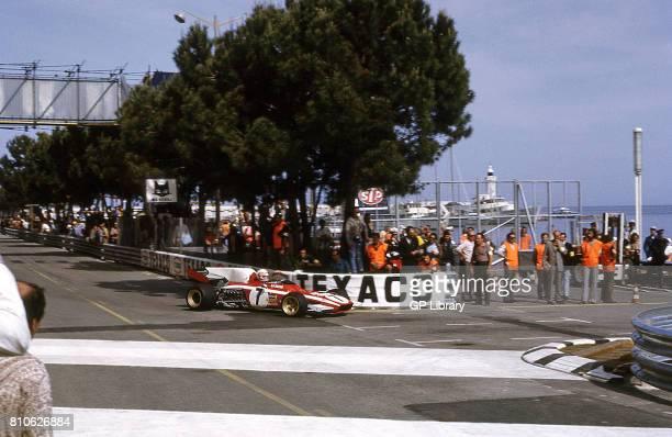 Clay Regazzoni driving a Ferrari 312 at Monaco GP