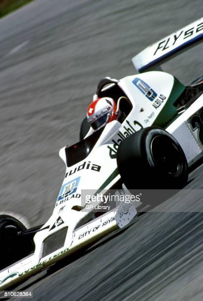 Clay Regazzoni driving a William FW07 at Interlagos Brazilian GP 15th