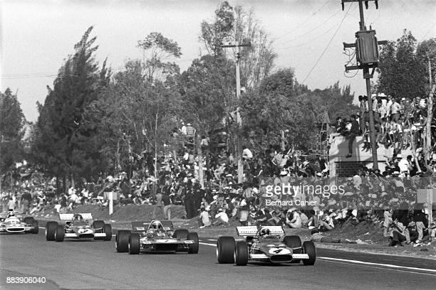 Clay Regazzoni Jackie Stewart Jacky Ickx JeanPierre Beltoise Ferrari 312B MarchFord 701 Matra MS120 Grand Prix of Mexico Autodromo Hermanos Rodriguez...