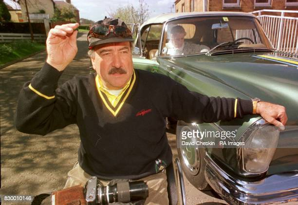 Clay Regazzoni who won the Brtish Grand Prix in 1982 with his Mercedes Benz Cabriolet 1967 at the Glenkinchie Distillery in East Lothian as classic...