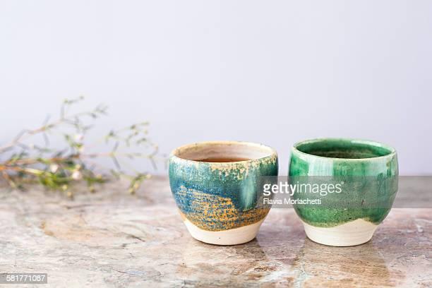Clay teacups
