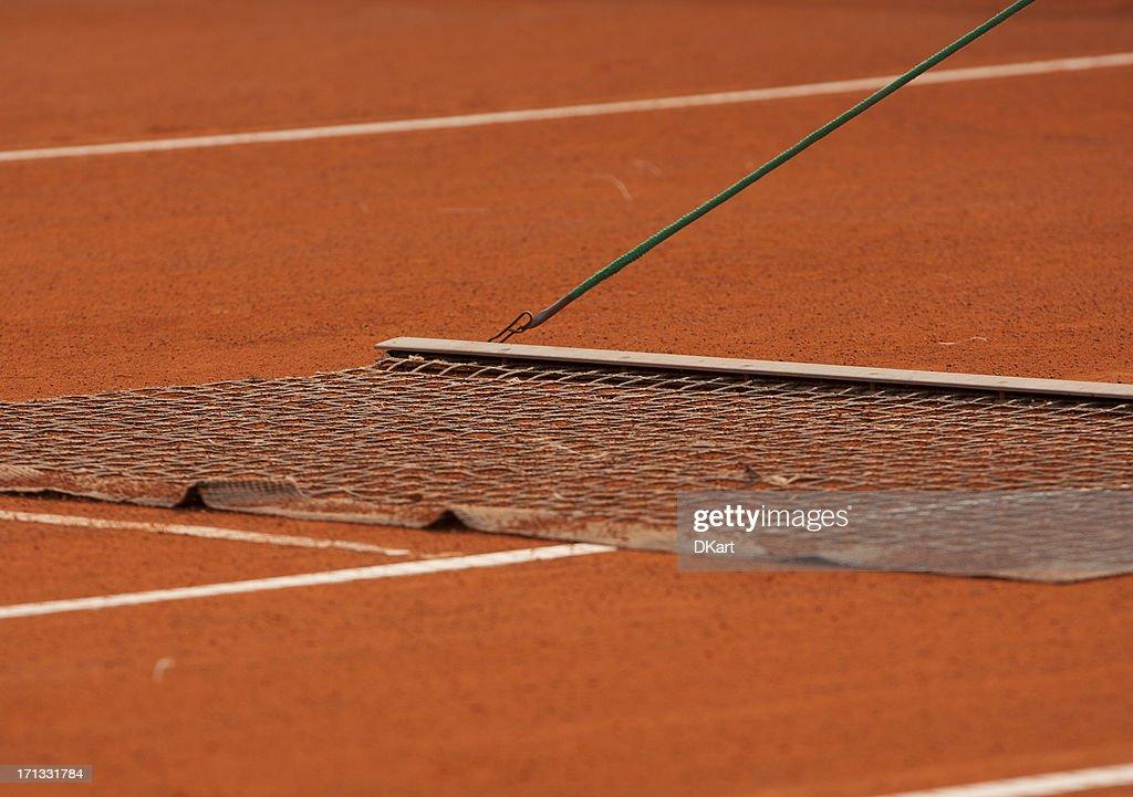 court de tennis en terre battue harvest événement : Photo