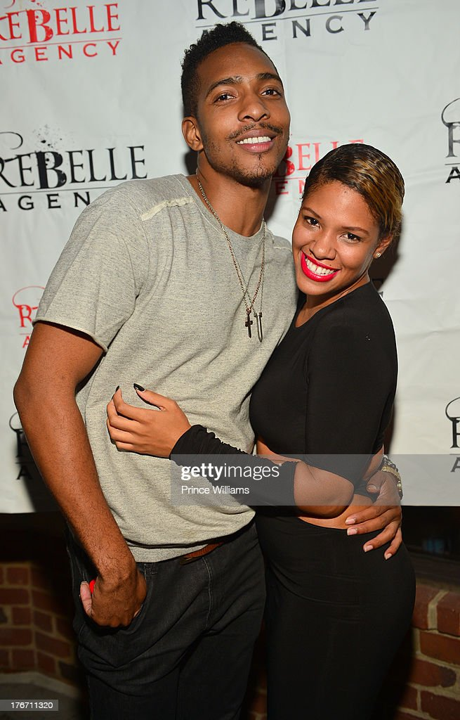Clay West and Dariana Colon-Bibb attend the Host Rebelle Agency PR Launch party at La Mongerie on August 16, 2013 in Atlanta, Georgia.