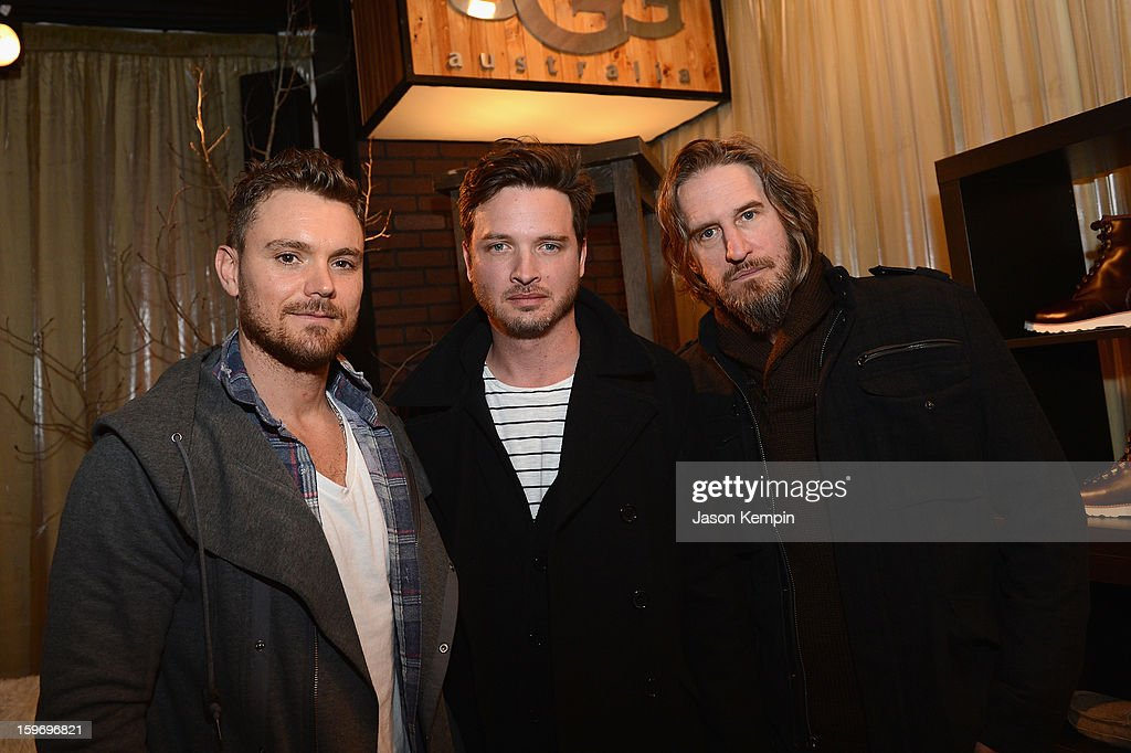 Clayne Crawford, Aden Young and Ray McKinnon attend Day 1 of UGG at Village At The Lift 2013 on January 18, 2013 in Park City, Utah.