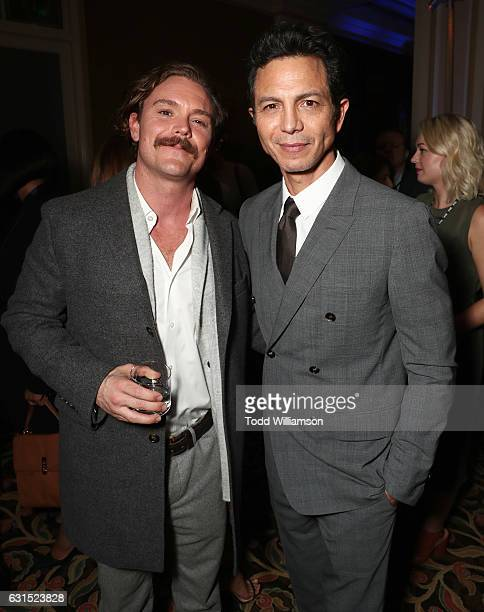 Clayne Crawford and Benjamin Bratt attend the 2017 Winter TCA Tour FOX AllStar Party at Langham Hotel on January 11 2017 in Pasadena California