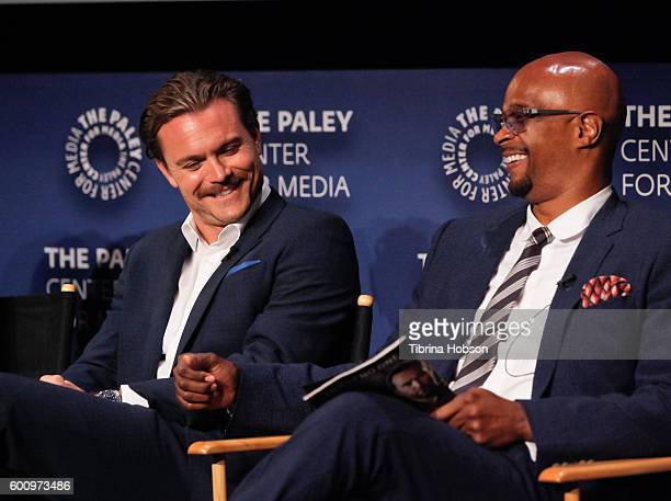 Clayne Crawford and Damon Wayans attend The Paley Center for Media's PaleyFest 2016 fall TV preview for FOX at The Paley Center for Media on...