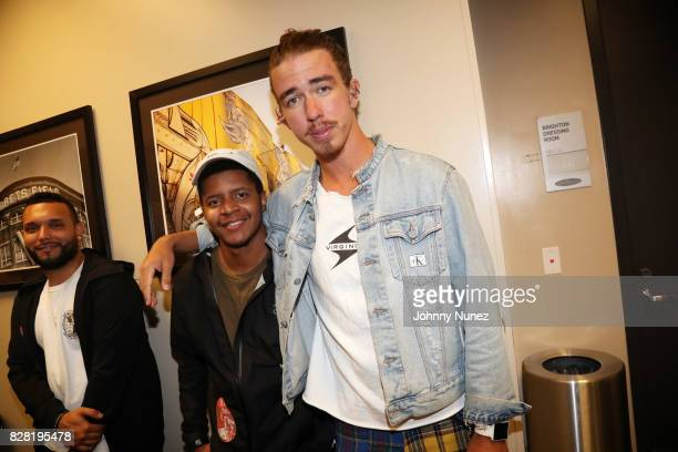 Clayton Barmore and Rhêtorík backstage at Barclays Center on August 8 2017 in New York City