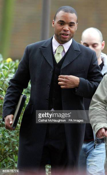 Clayton Daley leaves Isleworth Crown Court where he escaped custody today for his part in a brawl which partially blinded a Saudi billionaire's nephew