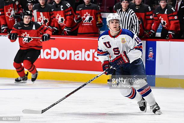 Clayton Keller of Team United States skates during the 2017 IIHF World Junior Championship gold medal game against Team Canada at the Bell Centre on...