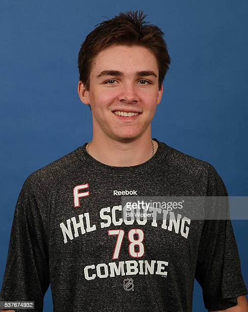 Clayton Keller poses for a headshot at the 2016 NHL Combine on June 2 2016 at Harborcenter in Buffalo New York