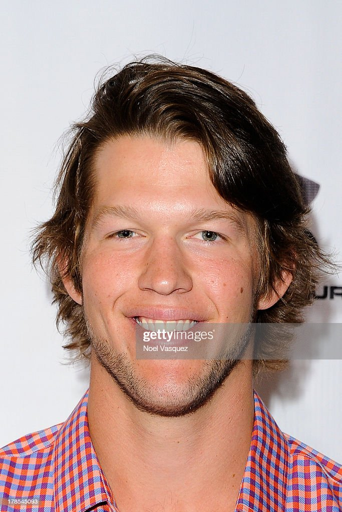 Clayton Kershaw attends his inaugural Ping Pong 4 Purpose at Dodger Stadium on August 29 2013 in Los Angeles California