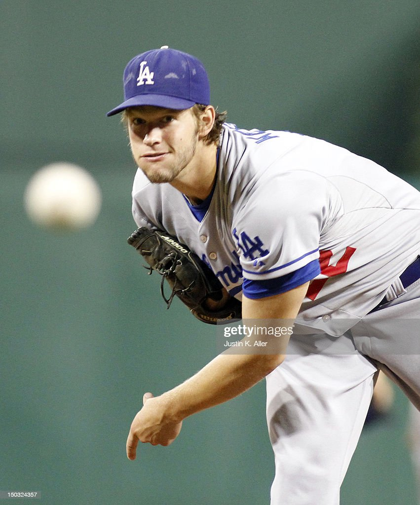 <a gi-track='captionPersonalityLinkClicked' href=/galleries/search?phrase=Clayton+Kershaw&family=editorial&specificpeople=4391635 ng-click='$event.stopPropagation()'>Clayton Kershaw</a> #22 of the Los Angeles Dodgers pitches against the Pittsburgh Pirates during the game on August 15, 2012 at PNC Park in Pittsburgh, Pennsylvania.