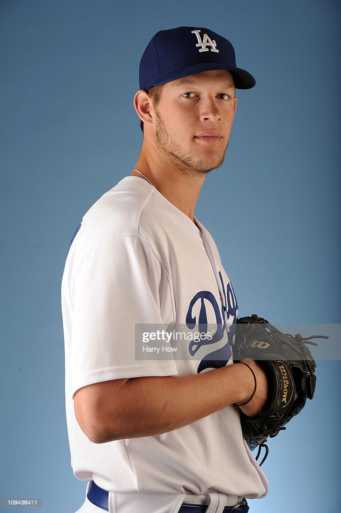 Clayton Kershaw #22 of the Los Angeles Dodgers poses for a photo on photo day at Camelback Ranch on February 25, 2011 in Glendale, Arizona.