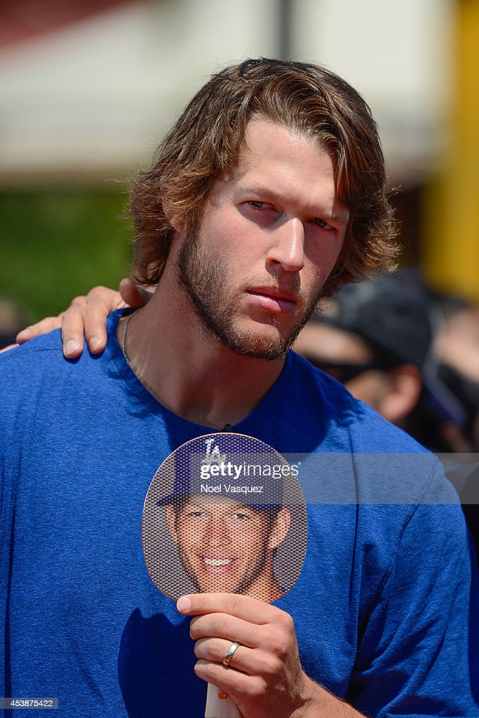 Clayton Kershaw visits 'Extra' at Universal Studios Hollywood on August 20 2014 in Universal City California