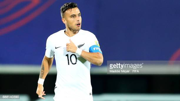 Clayton Lewis of New Zealand reacts after Myer Bevan scored a goal during the FIFA U20 World Cup Korea Republic 2017 group E match between New...
