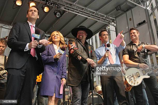 Clayton Morris Alisyn Camerota Eddie Montgomery Dave Briggs and Troy Gentry at during 'FOX Friends' All American Concert Series at FOX Studios on May...