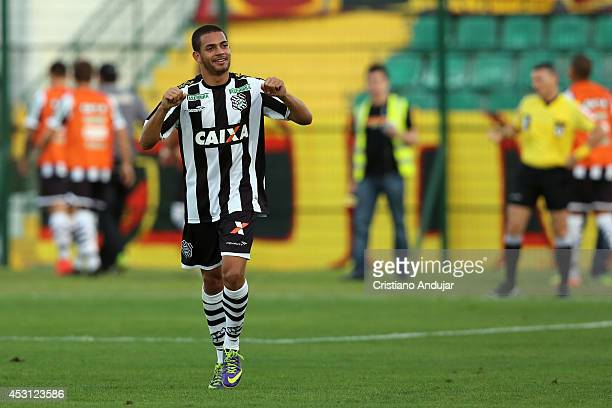 Clayton of Figueirense celebrate his goal second of Figueirense in match during a match between Figueirense and Sport as part of Campeonato...