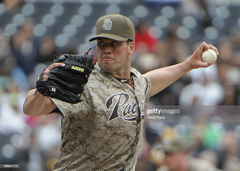 <a gi-track='captionPersonalityLinkClicked' href=/galleries/search?phrase=Clayton+Richard&family=editorial&specificpeople=5476063 ng-click='$event.stopPropagation()'>Clayton Richard</a> #33 of the San Diego Padres pitches during the second inning of a baseball game against the Colorado Rockies at Petco Park on April 14, 2013 in San Diego, California.