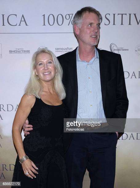 Clea Newman and Kurt Soderlund attend the 'Lo Que De Verdad Importa' premiere at the Hotel Vincci Capitol on February 15 2017 in Madrid Spain
