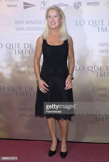 Clea Newman attends the 'Lo Que De Verdad Importa' premiere at the Hotel Vincci Capitol on February 15 2017 in Madrid Spain