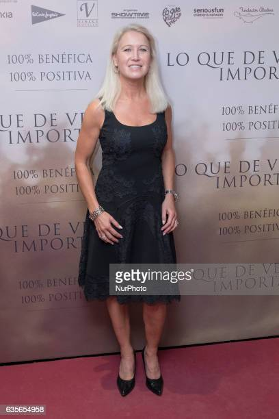 Clea Newman attends the premiere of the movie quotQue Que De Verdad Importaquot at the Capitol cinema in Madrid February 15 2017