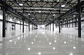 empty room of modern factory