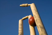 Cricket stumps shattered by the new ball.See also: