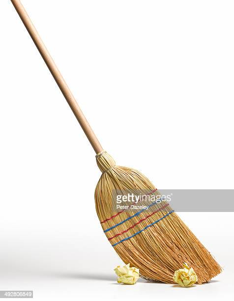 Clean broom sweeps clean