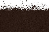 Clean brown texture of soil isolated on white background