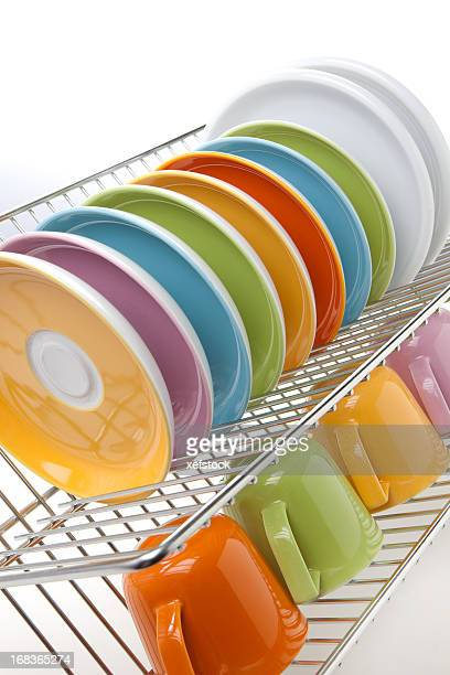 Clean colorful dishes