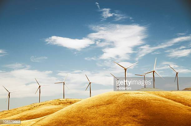 Clean energy from a windfarm in California