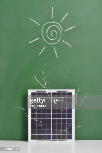 Clean energy powered by solar panel. : Stock Photo