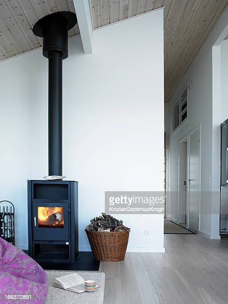 Clean home with wood stove