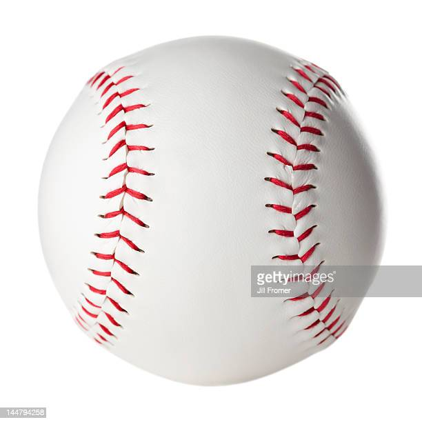 Clean, new softball isolated on a white background