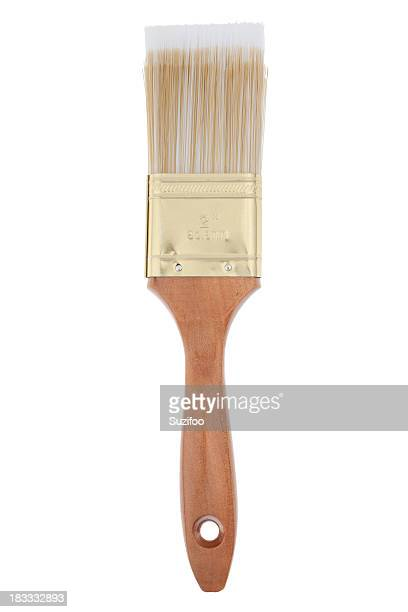 A clean paintbrush isolated on a white background