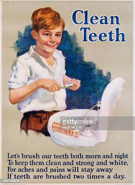 Clean Teeth Toothpaste Poster