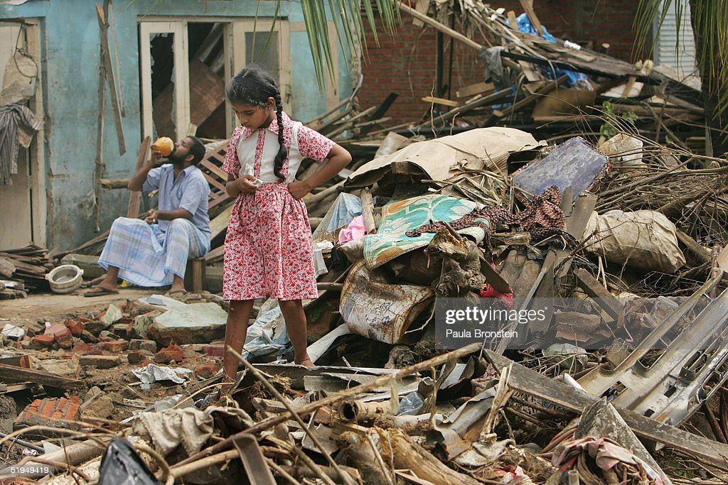 Clean Up Continues In Sri Lanka : Stock Photo