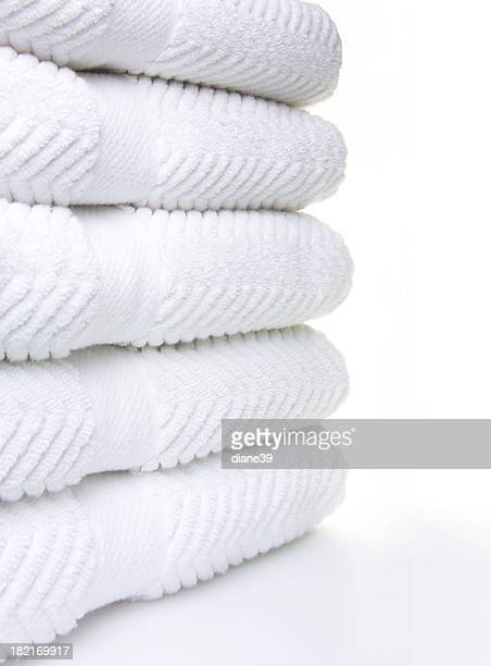 clean white towels